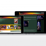 Responsive Jazz music eCommerce website on a desktop device - Web IT Development