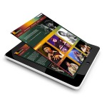 Responsive Jazz music eCommerce website on a mobile device - Web IT Outsourcing