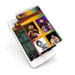Responsive Jazz music eCommerce website on a mobile device - Web Outsourcing